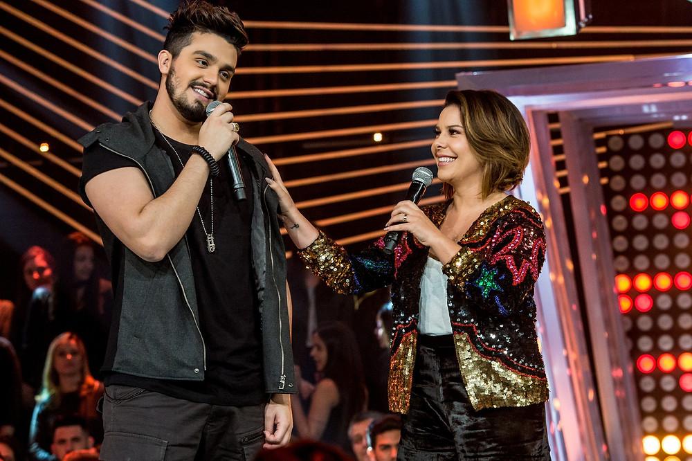 Luan Santana e Fernanda Souza no Só Toca Top (Foto:Google Imagens)