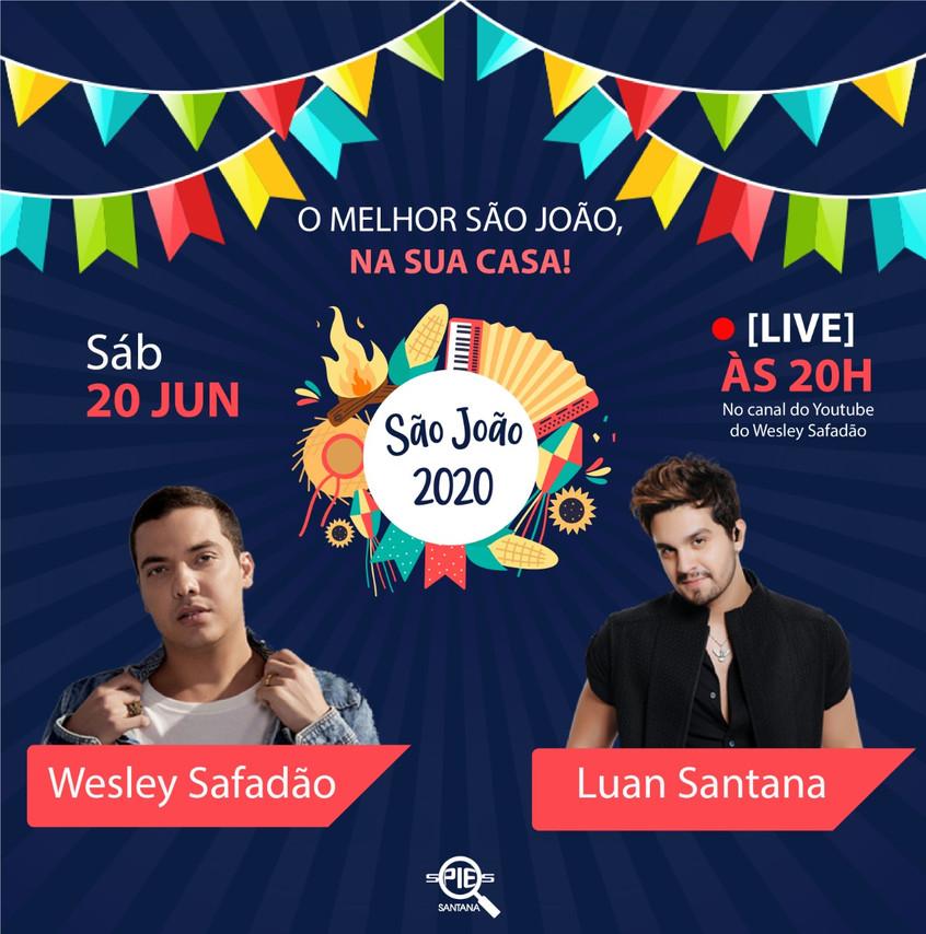 Luan Santana e Wesley Safadão farão live de São João juntos