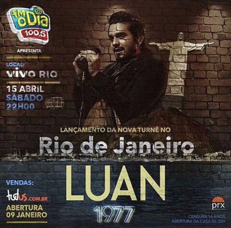 Lançamento da turnê ''Luan 1977'' no Rio de Janeiro