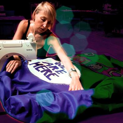 Shropshire Subversive Stitchers Processions Banner