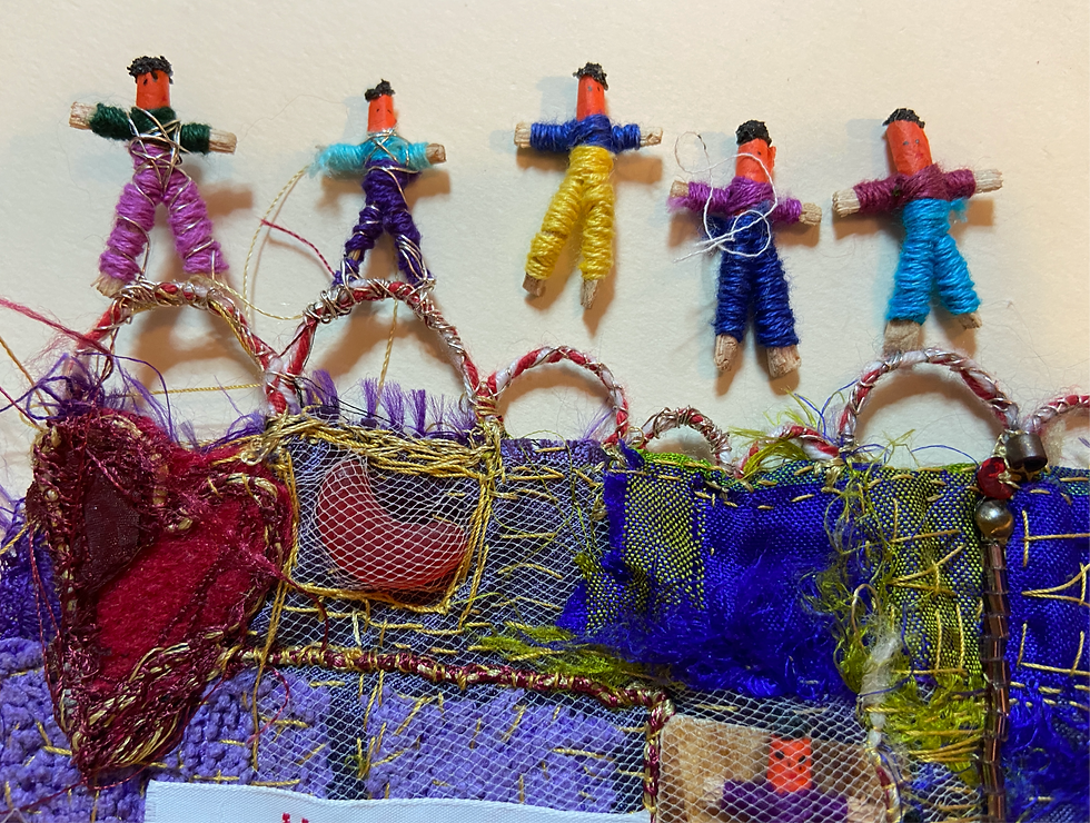 Hand embroidery and worry dolls