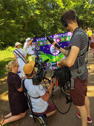 Shropshire Processions Banner On Local News