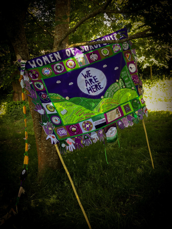Shropshire Women Processions Banner