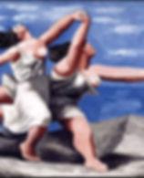 Picasso Deux femmes courant sur la plage