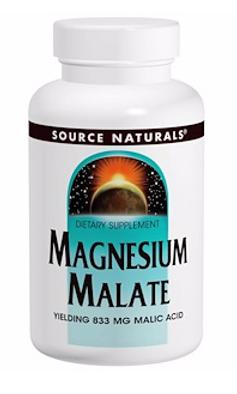 Source Naturals, Яблочнокислый магний, 180 таблеток