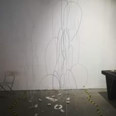 """Инсталляция """"Опыты взросления"""" в галерейном пространстве 2018"""