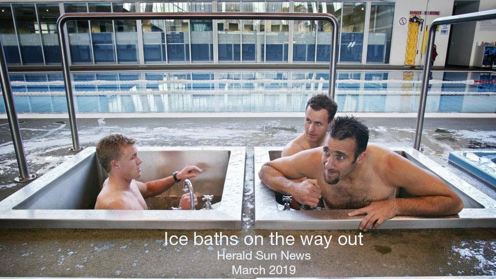 Are ice baths on the way out?