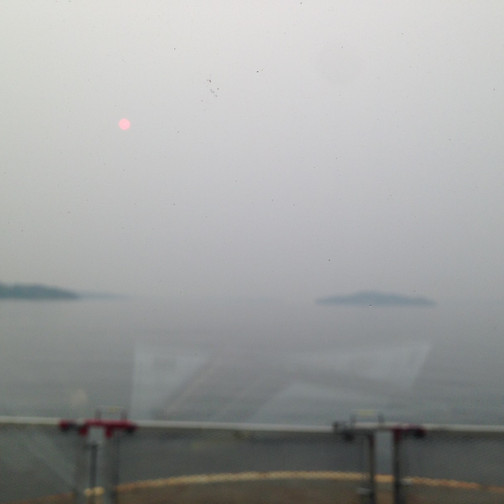 View on ferry deck leaving Alert Bay