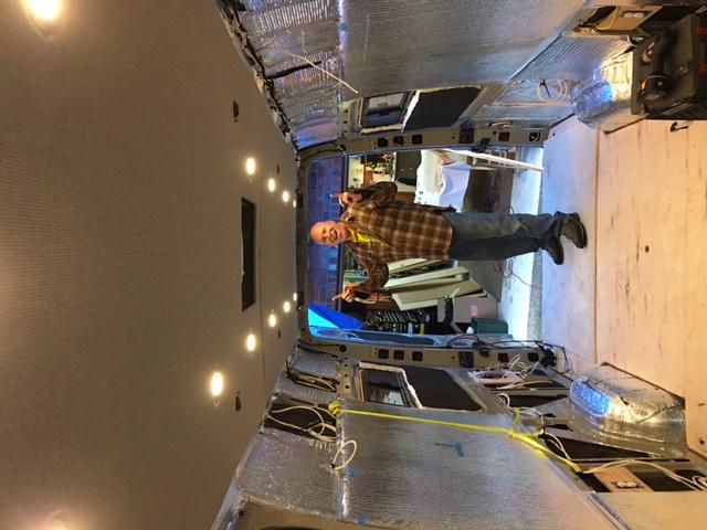 Celing panel installed