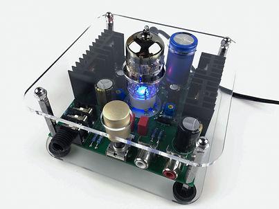 Lid ECC82-HP 12AU7 Tube Headphone Amplifier DIY kits