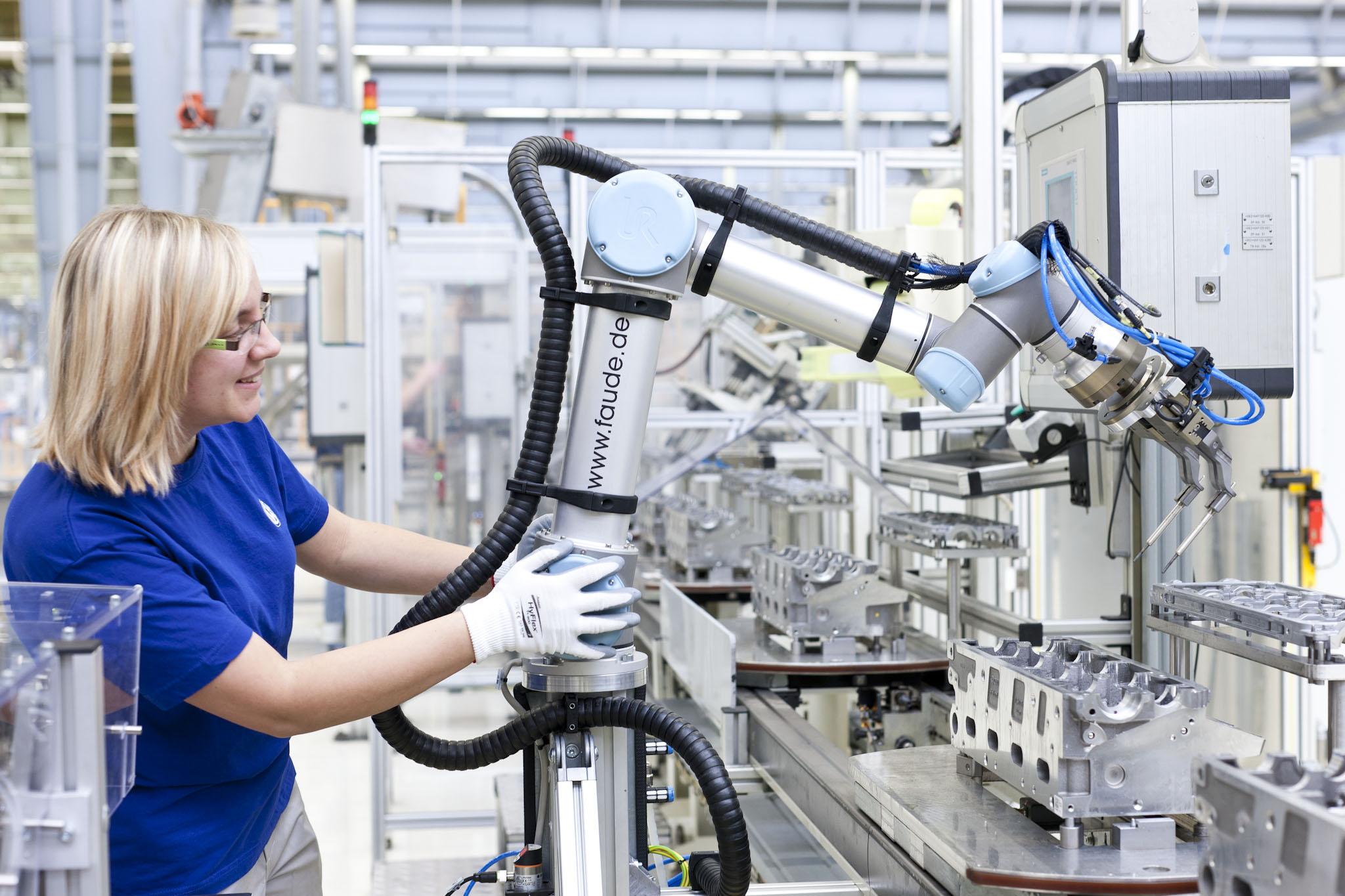 UR5 robot in a firm