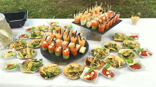 Assortiments d'entrées en cocktail déjeunatoire