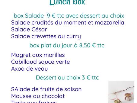 Lunch box du 19 avril 2021. Commandes par tel 06 86 80 22 47 ou messagerie facebook