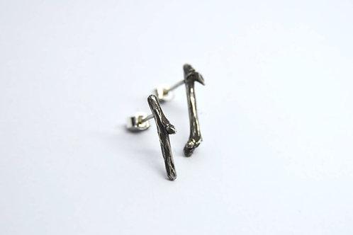 Stick Stud Earrings (oxidised)