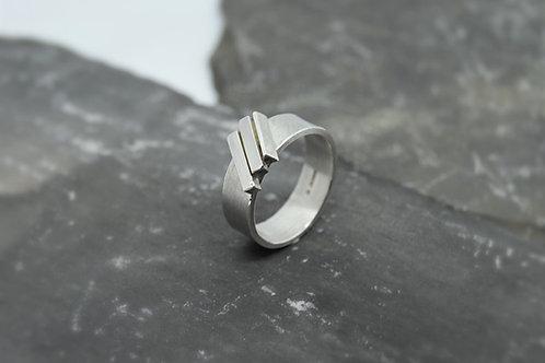 Silver Slat Ring