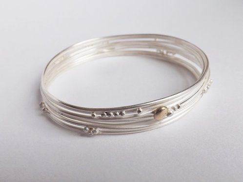 Layered Silver Bangle