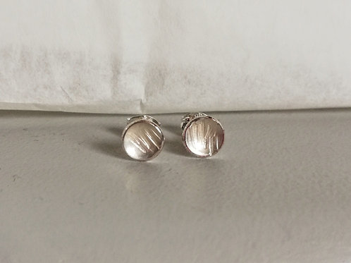 Small Textured Line Studs