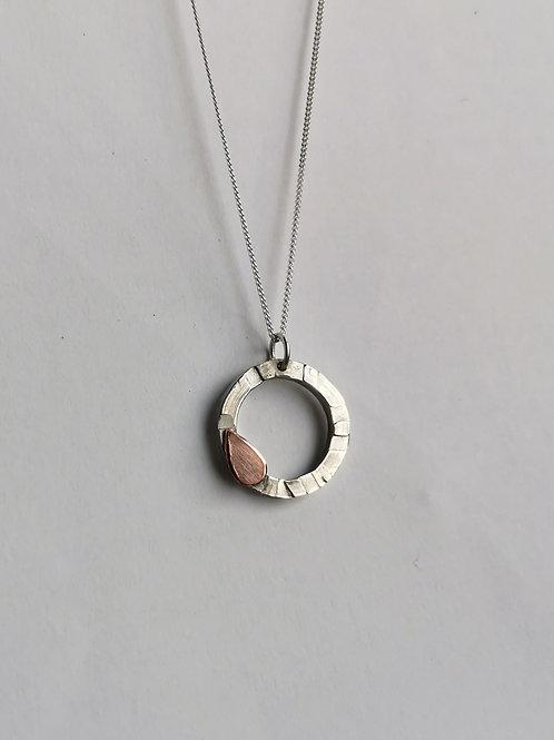 Copper Petal Necklace