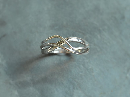 Silver Flow Ring