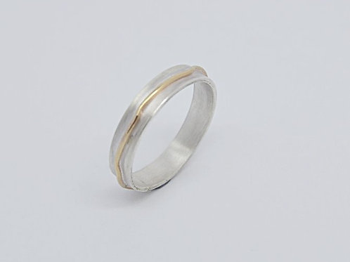 Silver & Gold Land Ring