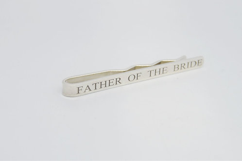 Personalised Silver Wedding Tie Slide