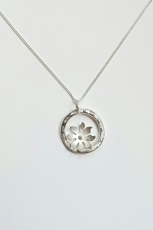 Hammered Flower pendant