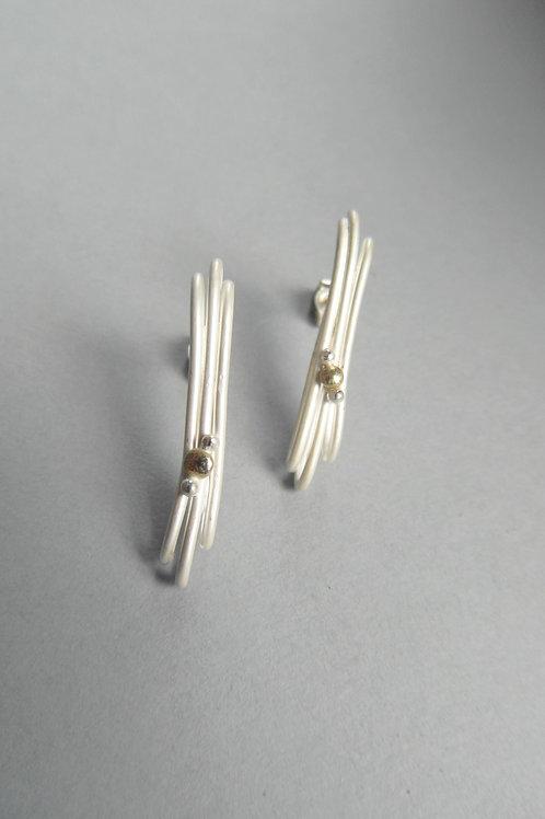 Layered Stud Earrings