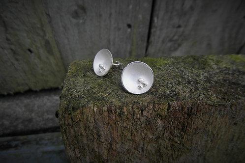 Domed Stud Earrings