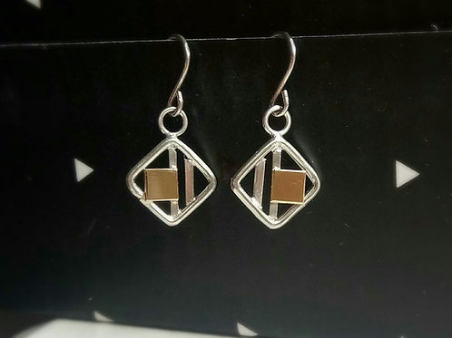Square Panel Drop Earrings