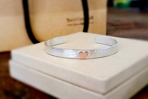 Copper Heart cuff
