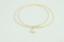 gold bangle, commission, scottish handmade