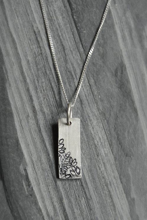 Rectangular Autumn Pendant (oxidised)
