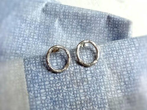 Small Oval Textured Studs