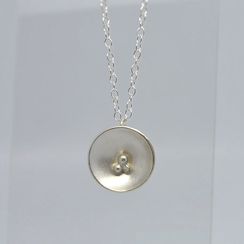 Domed Silver Pendant