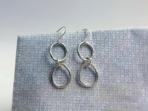 Oval & Pear Drop Earring