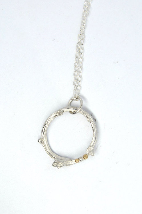 Twig Pendant with Gold