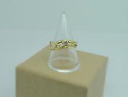 18ct & diamond breeze ring