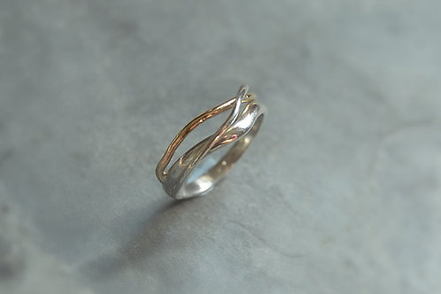 Flow Ring, Silver&Gold