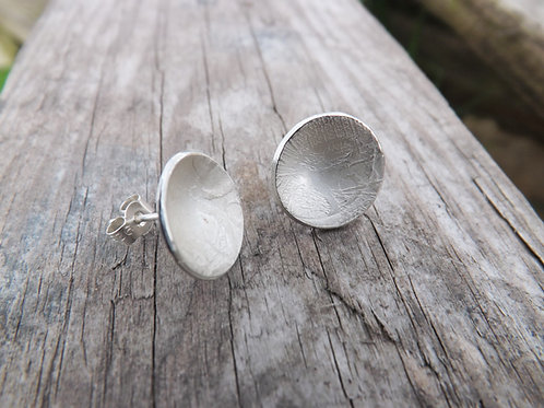 Lightly Textured Stud Earrings
