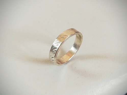 Line Textured Ring