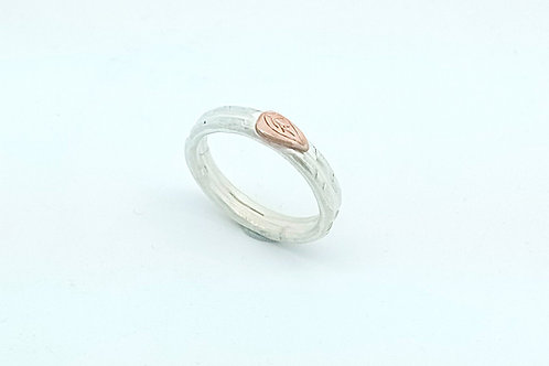 Textured Copper leaf Ring