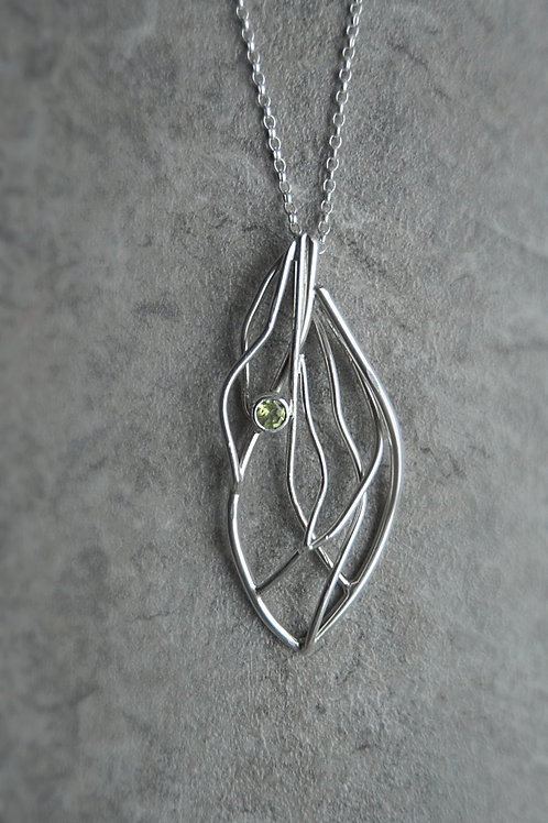 Medium Breeze Pendant with gemstone