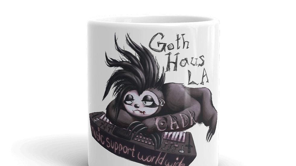 Goth Haus LA Goth Sloth CADR mug