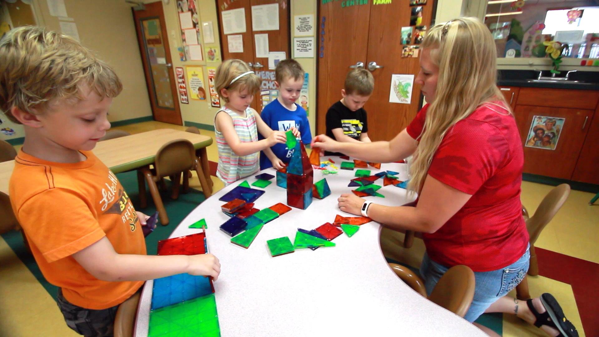 Teacher with Preschoolers