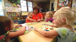 Teacher in Young Preschool Room
