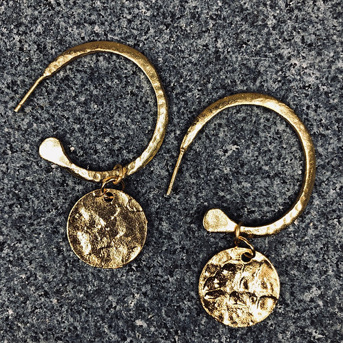 Penny Medal Earrings