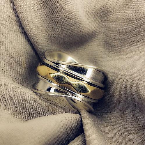 Shaped spinner ring