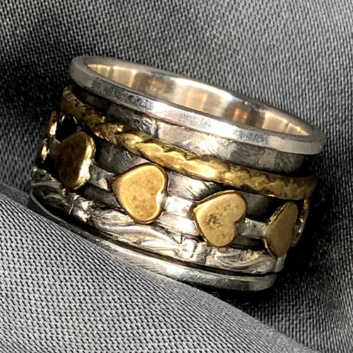 Spinning Hearts Spinner ring