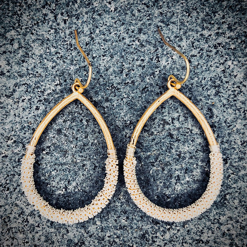 Base Metal Wrapped Earrings