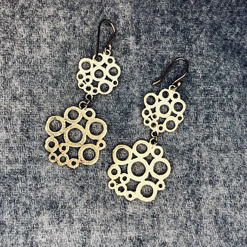 22k Gold Plated cut out earrings